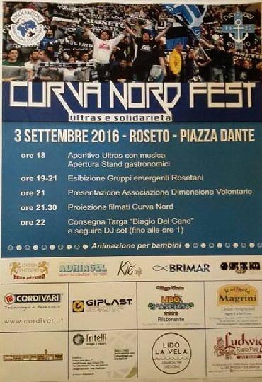 Roseto, ultras e solidarietà per la 'Curva Nord Fest'