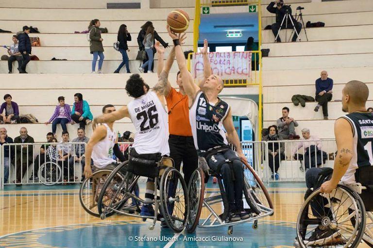 Basket in carrozzina, Amicacci perde il big match contro Cantù