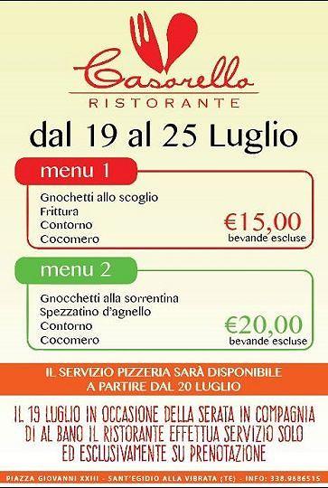 Arriva Al Bano a Paolantonio, Don Casorello crea menù speciali – dal 19 al 25 luglio| Sant'Egidio alla Vibrata