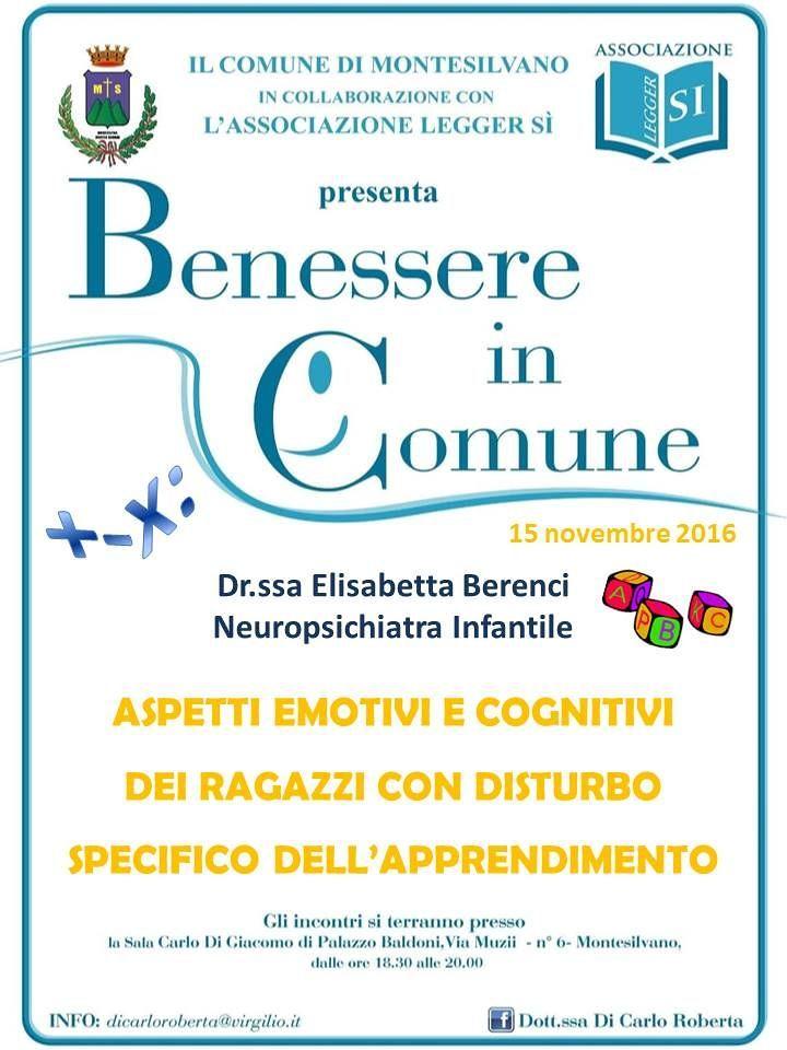 Montesilvano, Benessere in Comune: incontro sui disturbi dell'apprendimento