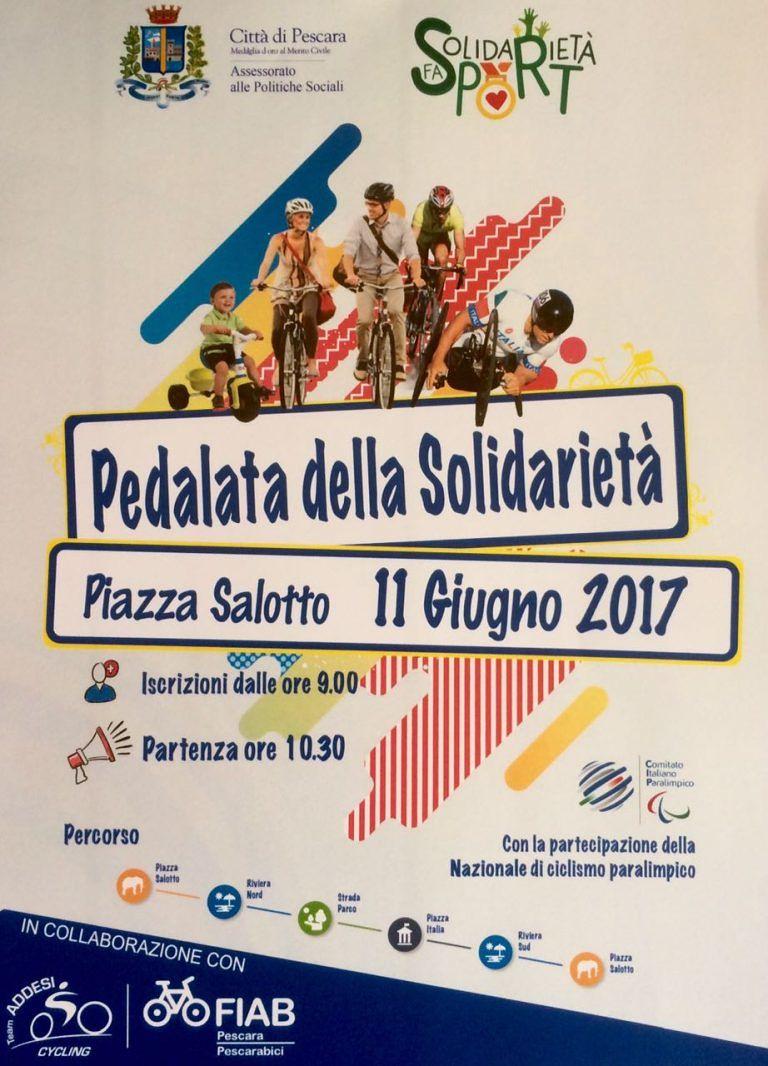 Pescara, Pedalata della solidarietà con gli atleti della nazionale paralimpica