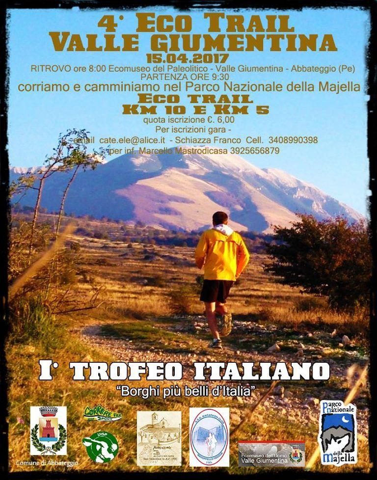 Abbateggio, l'Eco Trail sulla valle Giumentina diventa trofeo podistico
