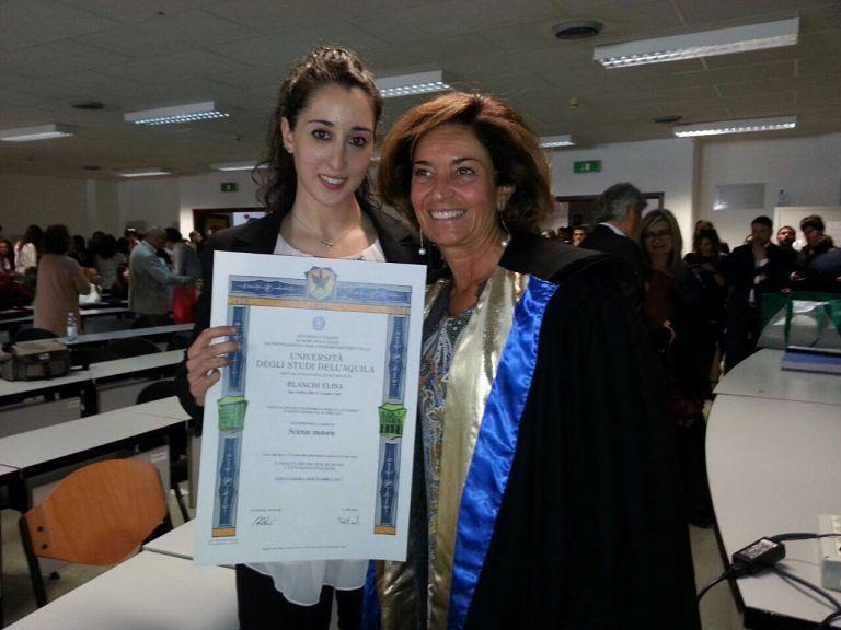 La campionessa olimpionica Elisa Bianchi si laurea a L'Aquila