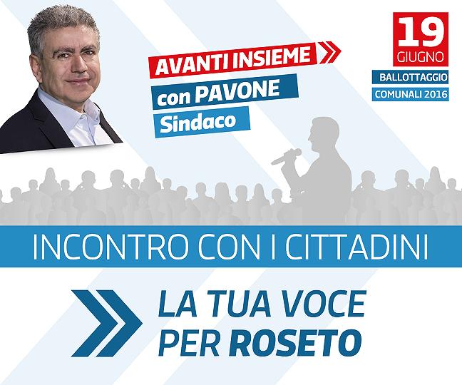 Roseto, riparte da Santa Petronilla il tour elettorale di Enio Pavone