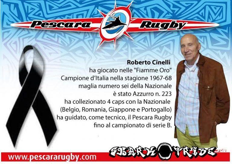 Pescara rugby, muore l'ex allenatore Roberto Cinelli