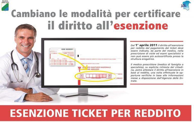 Esenzione ticket per reddito: dove rinnovarla a Pescara e provincia