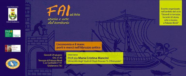 Giulianova, FAI inaugura 'Giovedì in terrazza' parlando degli antichi porti