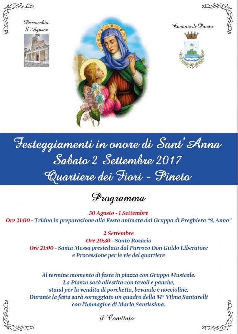 Pineto, al Quartiere dei Fiori torna la festa di Sant'Anna