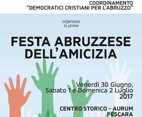 Fioroni e Cirino Pomicino a Pescara per la Festa dell'Amicizia
