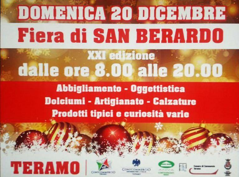 Teramo, slitta al 20 dicembre la Fiera di San Berardo