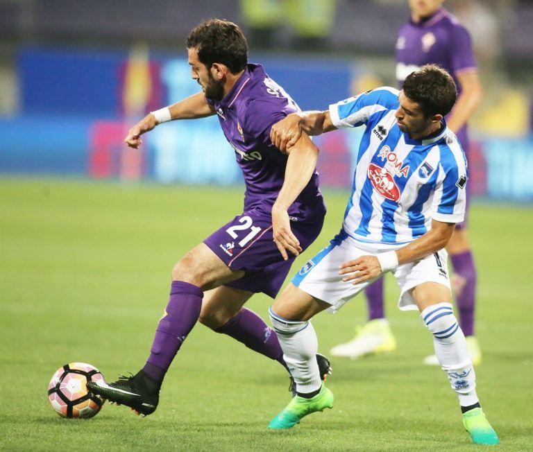 Il Pescara saluta la Serie A con un pari a Firenze
