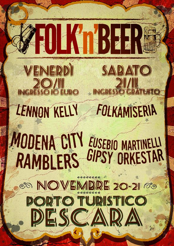 Pescara, in arrivo il Folk'n beer con i Modena City Ramblers e la birra artigianale
