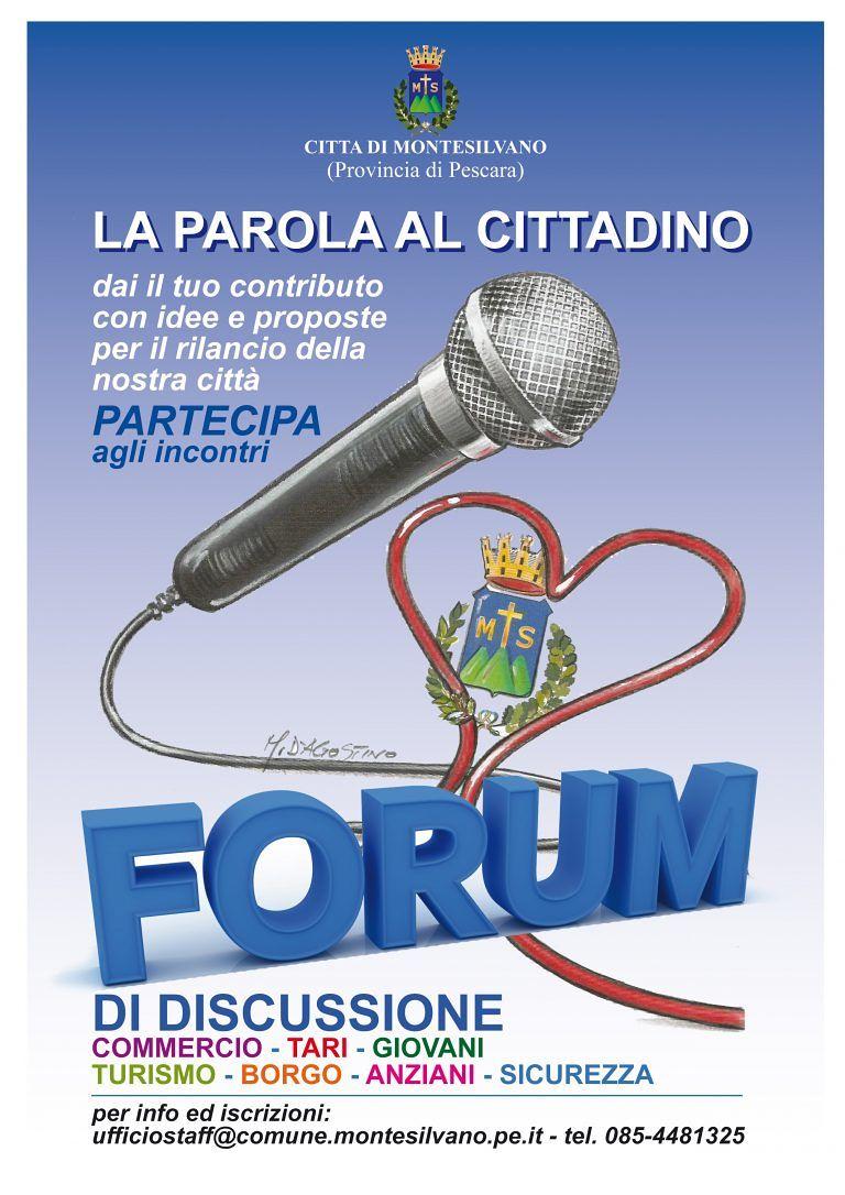 Montesilvano, riparte il Forum dei cittadini: dopo i buoni risultati raggiunti, al via la nuova stagione