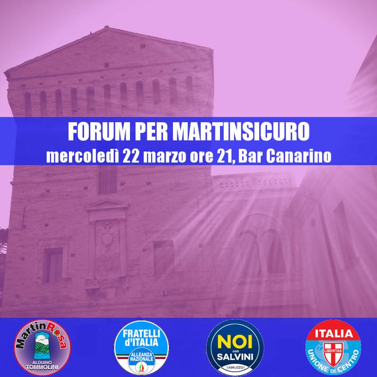 Elezioni Martinsicuro, parte il forum delle forze che appoggiano Alduino Tommolini