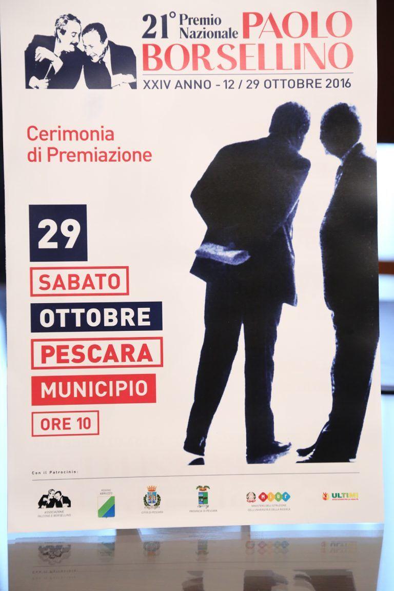 Pescara, Premio per la legalità Paolo Borsellino: ecco il programma