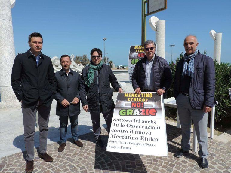 Pescara, Forza Italia vs mercatino etnico: al via la raccolta firme