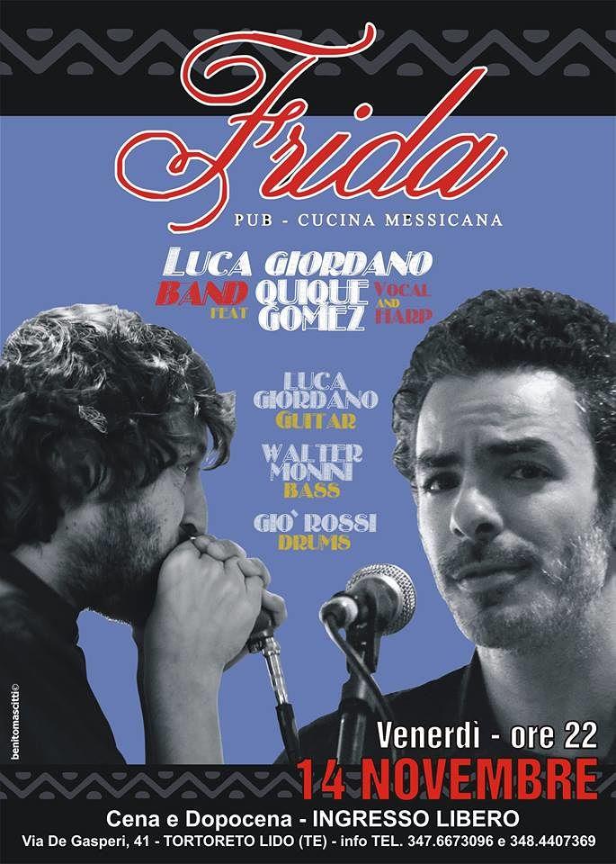 Tortoreto, rassegna musicale al Frida: appuntamento con Luca Giordano e Quique Gomez