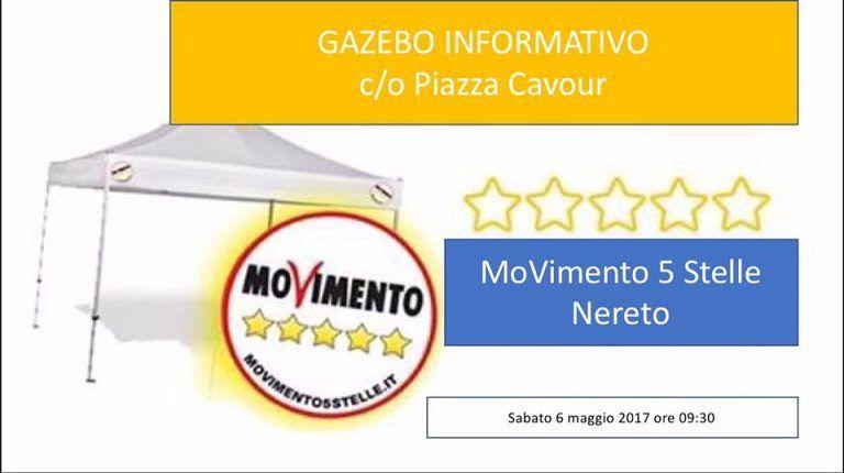Nereto, gazebo informativo in piazza Cavour per il M5S