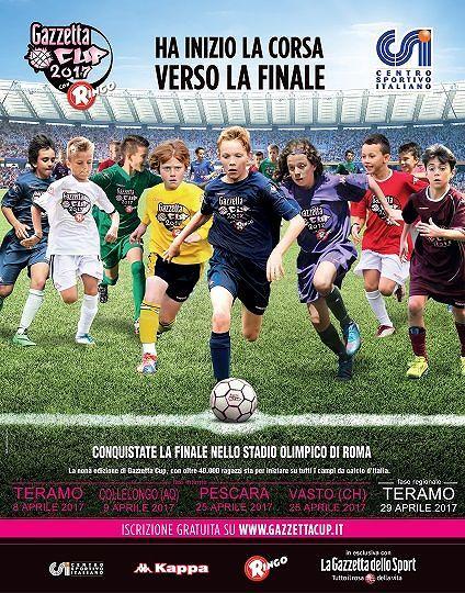 Gazzetta Cup 2017, arriva in Abruzzo il più grande torneo per ragazzi