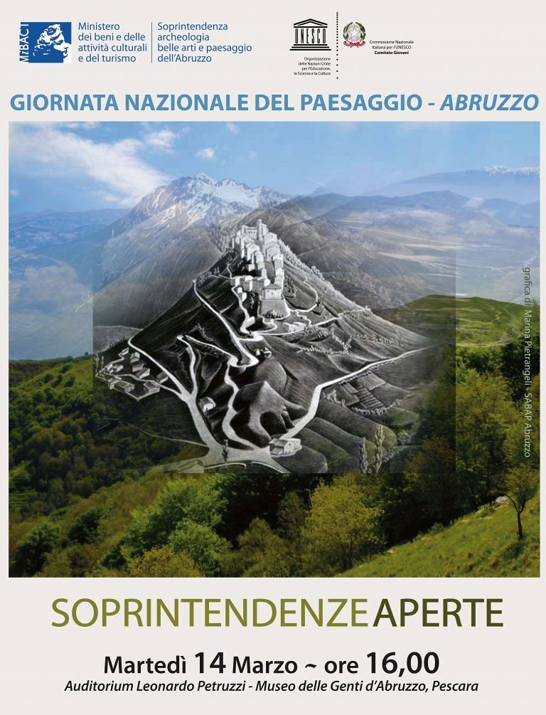 Pescara, la cultura del paesaggio abruzzese: al via il convegno