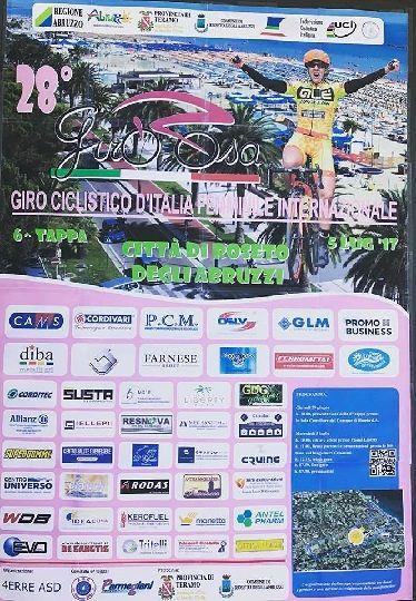 Giro Rosa 2017, contributo regionale per la tappa di Roseto