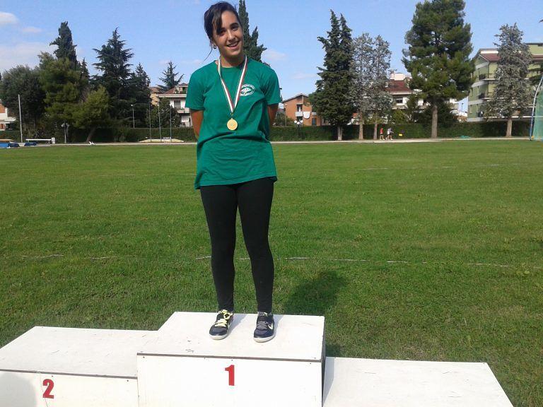 La giuliese Giulia Palladini (Ecologica G) ai campionati italiani di atletica leggera