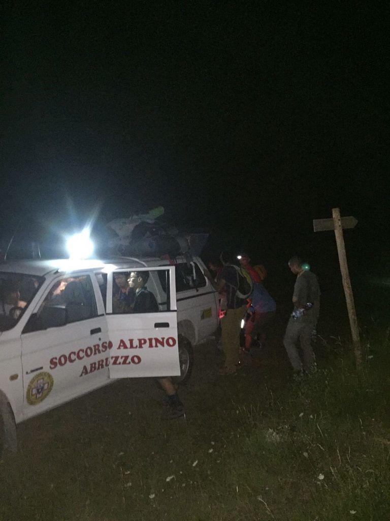 Pescasseroli, soccorsi 11 scout finiti nel ginepraio FOTO