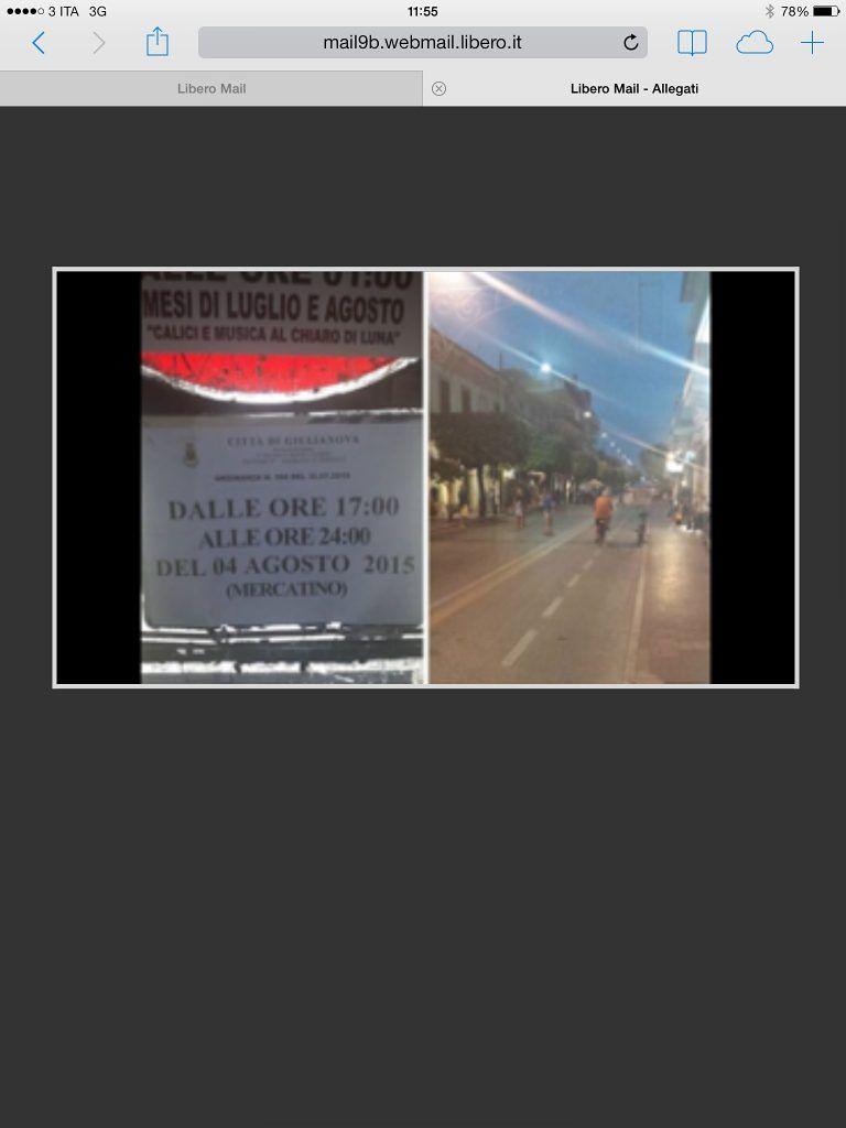 Giulianova, corso chiuso per un mercatino che non si è mai fatto