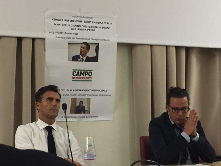 Referendum Costituzionale, il giuliese Luigi Ragni al Campo Democratico