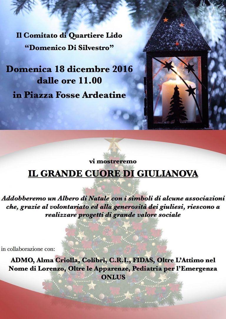 Giulianova, Alberto di Natale in piazza Fosse Ardeatine grazie a Comitato e associazioni
