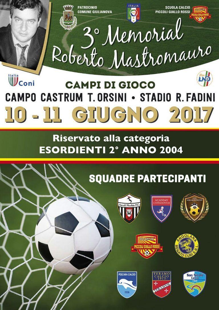 Giulianova, 8 squadre per il 3° Memorial Roberto Mastromauro