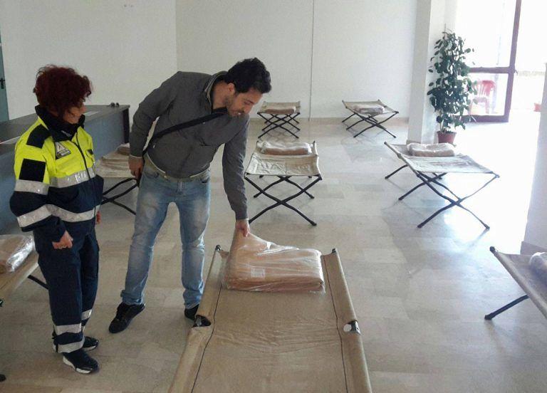 Castelli, la Protezione Civile allestisce un'area di accoglienza