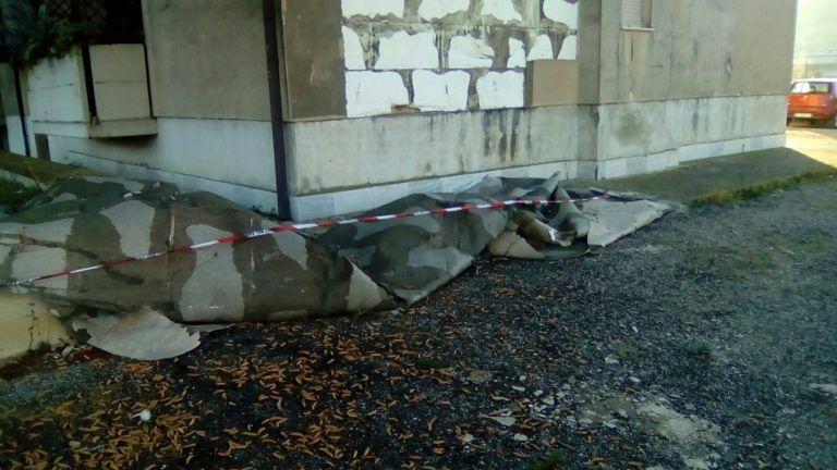 Teramo, palazzina Ater a Villa Vomano danneggiata FOTO