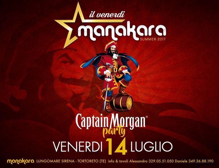 Manakara Beach club: venerdì 14 luglio Capitan's Morgan Party Tortoreto