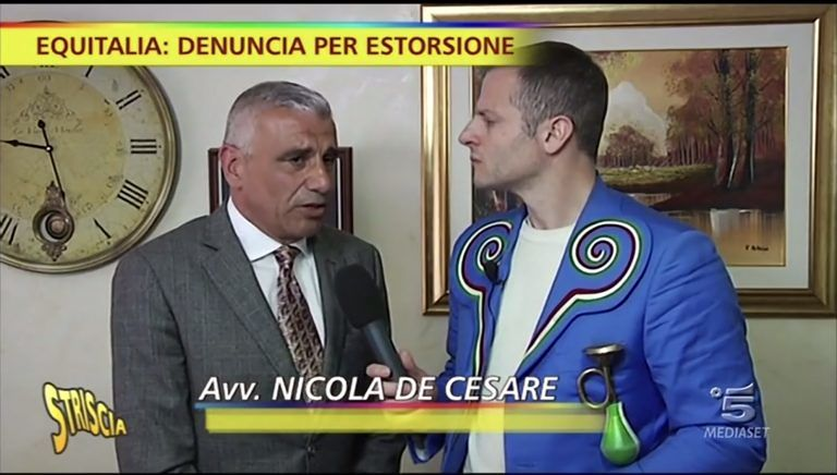 """""""Striscia la notizia"""" a Teramo per una denuncia di estorsione ad Equitalia VIDEO"""