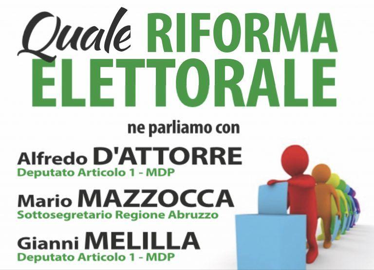 Castellalto, Articolo 1 – Mdp organizza incontro sulla riforma elettorale