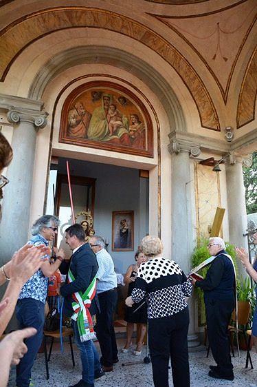 Montorio, restituita la lunetta della Madonna del Ponte