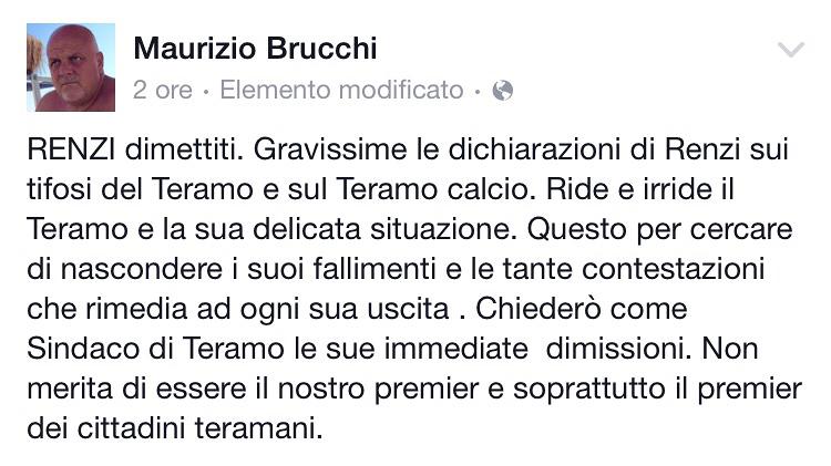 Caso-Renzi, Brucchi chiede le dimissioni del premier