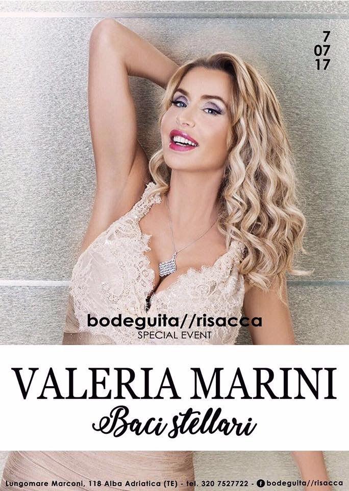 Bodeguita&Risacca: venerdì 7 luglio ospite Valeria Marini  Alba Adriatica