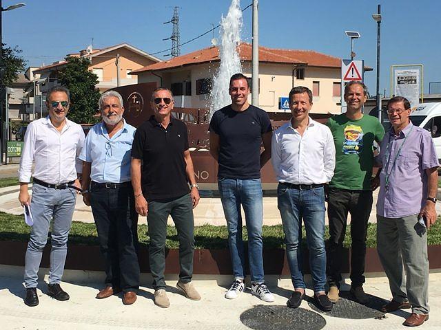 Inaugurata fontana/rotatoria a Dragonara