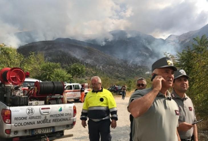 Incendi, il resoconto delle attività del Centro Operativo Misto di Sulmona