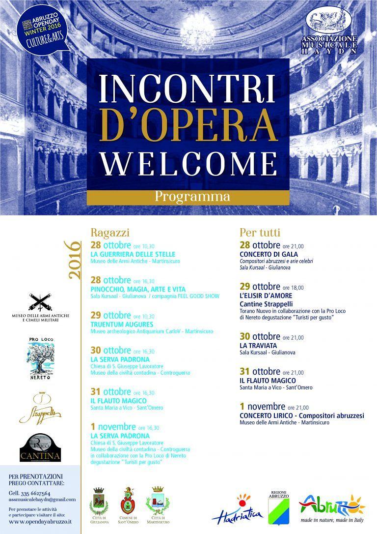 Martinsicuro, Incontri d'opera Welcome: programma al via venerdì