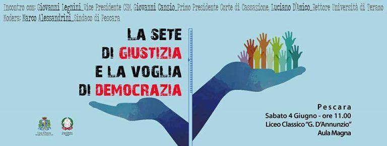 Pescara, la 'sete di giustizia' nell'era dei social: Legnini incontra i ragazzi del liceo classico