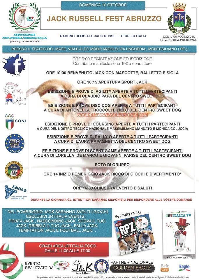 Montesilvano, raduno dei Jack russell terrier: aperte le iscrizioni