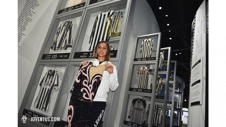 Pattinaggio, il costume della giuliese Debora Sbei nel Museo della Juventus