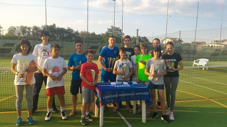Tennis, i vincitori del 2° Torneo Nazionale Giovanile dal CT Silvi
