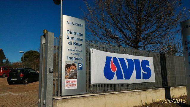 Raccolta sangue Avis al Distretto sanitario di Francavilla