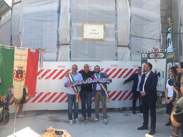 L'Aquila, inaugurato nel centro storico il 'Vico Amatrice'