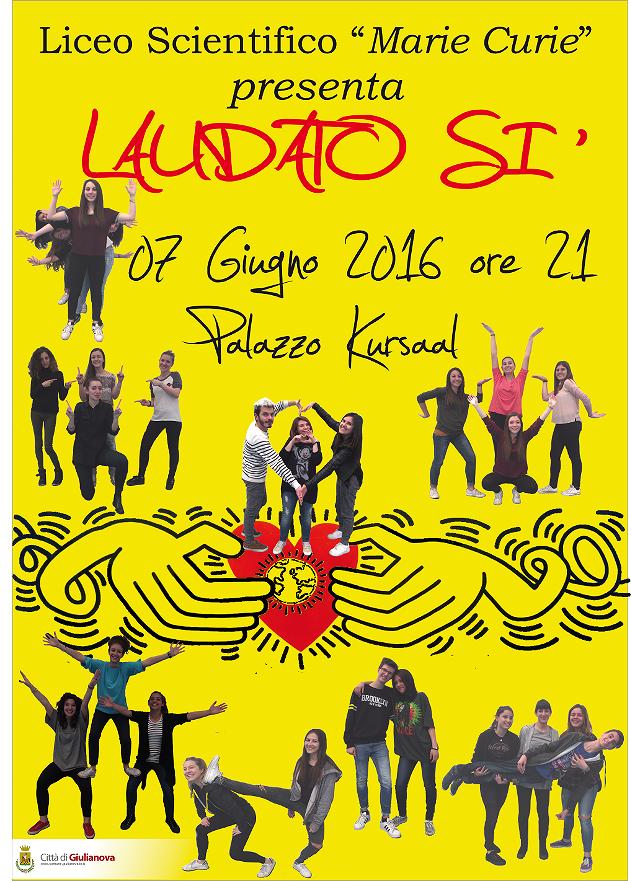 Giulianova, musical degli studenti del Curie ispirato all'enciclica di papa Francesco