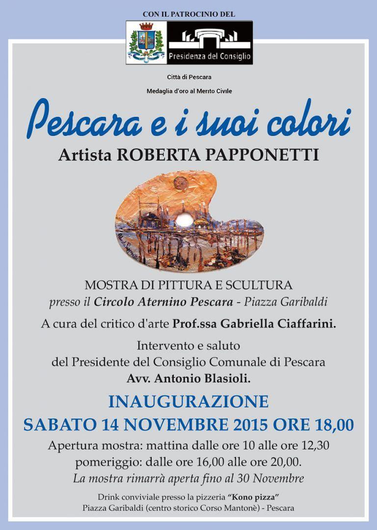 'Pescara e i suoi colori': pitture e sculture al Circolo Aternino